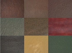 Leather swatches